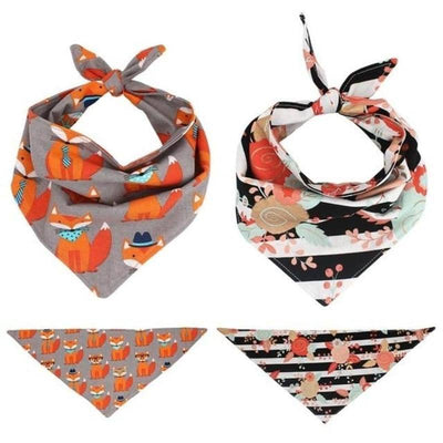 Fox & Bouquet Dog Bandana Set for dogs, dog clothes, dogs clothes, dog clothing, small dog clothes, dogs clothing, dog clothes female, dogs clothes boy, Dogs Clothes For Small To Medium Dog, Free Sunday, BowWow Shop - Top Dog Outfits Store