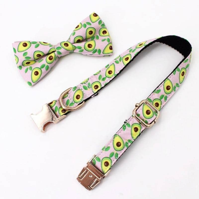 Avocado Bow-Tie Collar & Leash Set for dogs, dog clothes, small dog clothes, dogs clothing, dog clothes female, dogs clothes boy, Dogs Clothes For Small To Medium Dog, Free Sunday, BowWow Shop - Top Dog Clothing Store