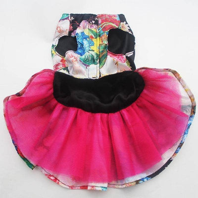 Dog Black Vintage Floral Frock | Small to Medium Dog Fashion Clothing | BowWow shop Online