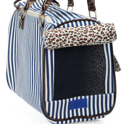 Dog Blue Stripe Dog Tote | Small to Medium Dog Fashion Clothing | BowWow shop Online