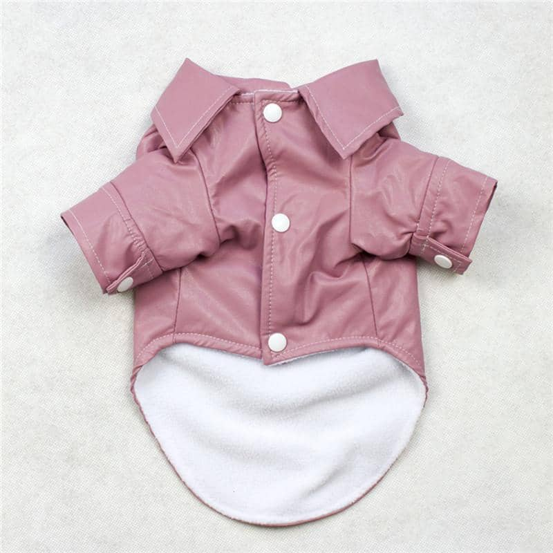 Dog Blush Pink Vogue PU Jacket | Small to Medium Dog Fashion Clothing | BowWow shop Online
