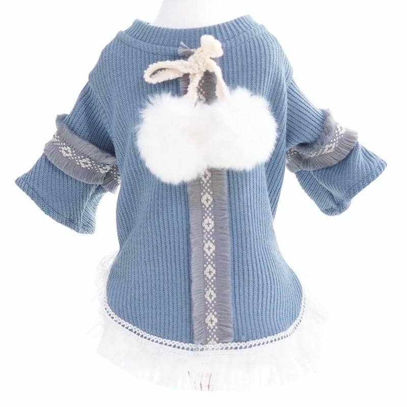 Dog Boho Pom-Pom Shirt | Small to Medium Dog Fashion Clothing | BowWow shop Online