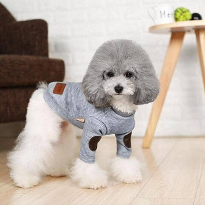 Dog Button & Patch Sweater | Small to Medium Dog Fashion Clothing | BowWow shop Online