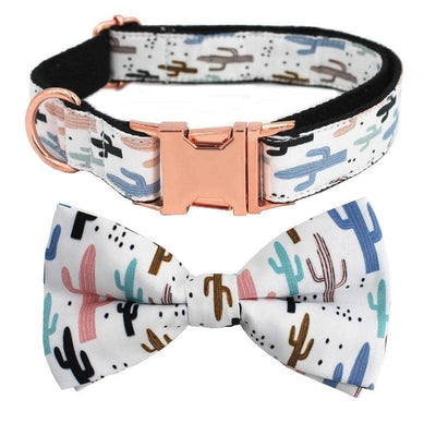 Cactus Bow-Tie Collar & Leash Set for dogs, dog clothes, dogs clothes, dog clothing, small dog clothes, dogs clothing, dog clothes female, dogs clothes boy, Dogs Clothes For Small To Medium Dog, Free Sunday, BowWow Shop - Top Dog Outfits Store