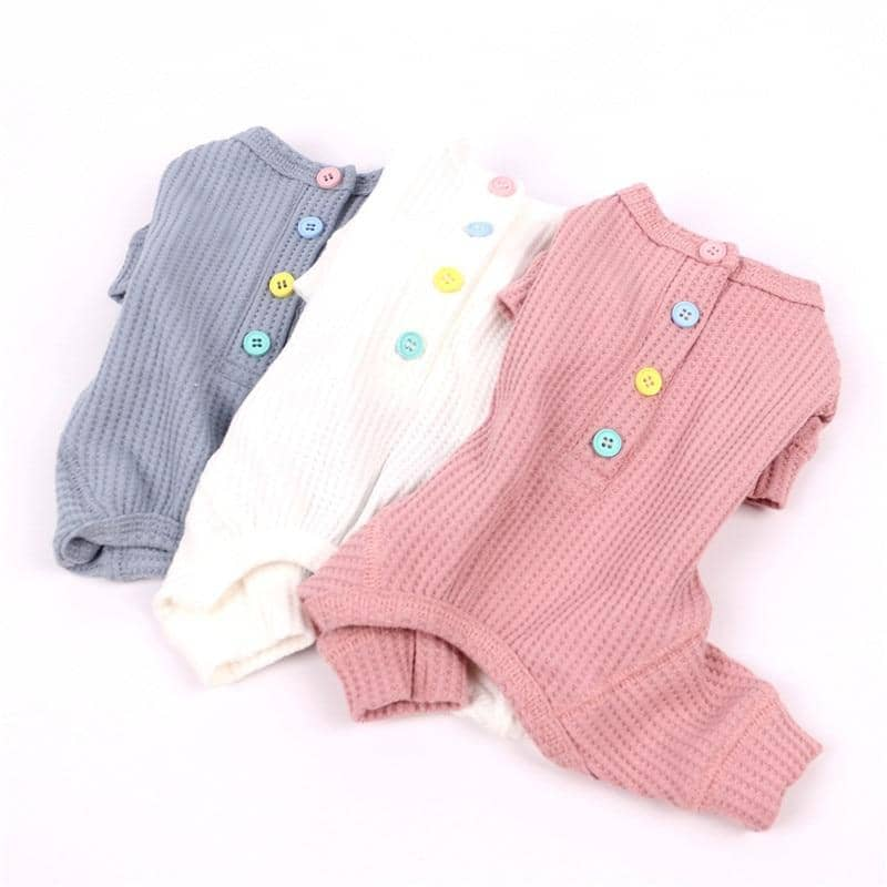 Dog Candy Button Cotton Jumpsuit | Small to Medium Dog Fashion Clothing | BowWow shop Online