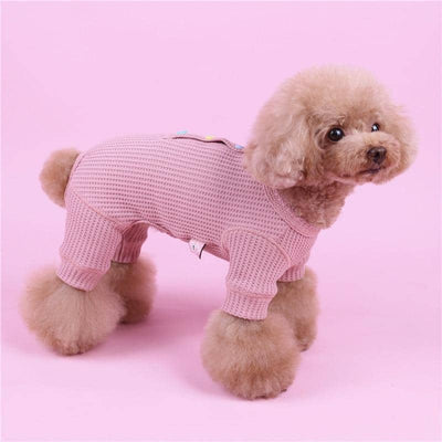 Candy Button Cotton Jumpsuit for dogs, dog clothes, dogs clothes, dog clothing, small dog clothes, dogs clothing, dog clothes female, dogs clothes boy, Dogs Clothes For Small To Medium Dog, Liz's Wonderland, BowWow Shop - Top Dog Outfits Store