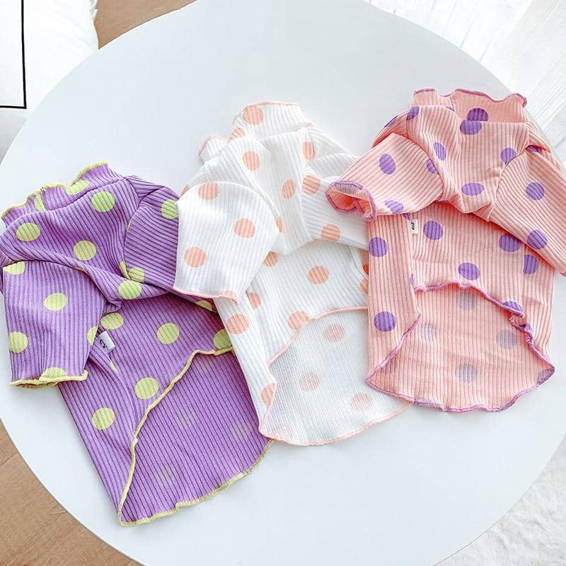 Candy Spot Cotton Tshirt for dogs, dog clothes, dogs clothes, dog clothing, small dog clothes, dogs clothing, dog clothes female, dogs clothes boy, Dogs Clothes For Small To Medium Dog, PetMundo, BowWow Shop - Top Dog Outfits Store