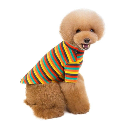 Candy Stripe Classic Tshirt for dogs, dog clothes, dogs clothes, dog clothing, small dog clothes, dogs clothing, dog clothes female, dogs clothes boy, Dogs Clothes For Small To Medium Dog, High Quality, BowWow Shop - Top Dog Outfits Store