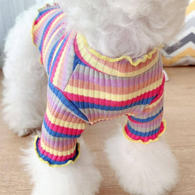 Candy Stripe Cotton T-shirt for dogs, dog clothes, dogs clothes, dog clothing, small dog clothes, dogs clothing, dog clothes female, dogs clothes boy, Dogs Clothes For Small To Medium Dog, Elfie, BowWow Shop - Top Dog Outfits Store