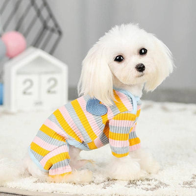 Candy Stripe Jumpsuit for dogs, dog clothes, dogs clothes, dog clothing, small dog clothes, dogs clothing, dog clothes female, dogs clothes boy, Dogs Clothes For Small To Medium Dog, PetMundo, BowWow Shop - Top Dog Outfits Store