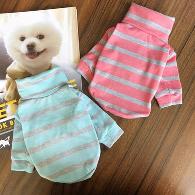 Candy Stripe Turtleneck for dogs, dog clothes, dogs clothes, dog clothing, small dog clothes, dogs clothing, dog clothes female, dogs clothes boy, Dogs Clothes For Small To Medium Dog, PeTalk, BowWow Shop - Top Dog Outfits Store