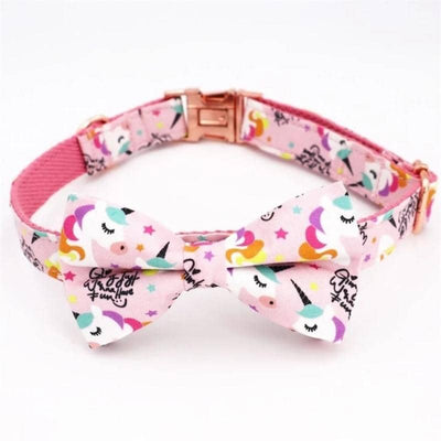 Candy Unicorn Bow-Tie Collar Set for dogs, dog clothes, dogs clothes, dog clothing, small dog clothes, dogs clothing, dog clothes female, dogs clothes boy, Dogs Clothes For Small To Medium Dog, Free Sunday, BowWow Shop - Top Dog Outfits Store
