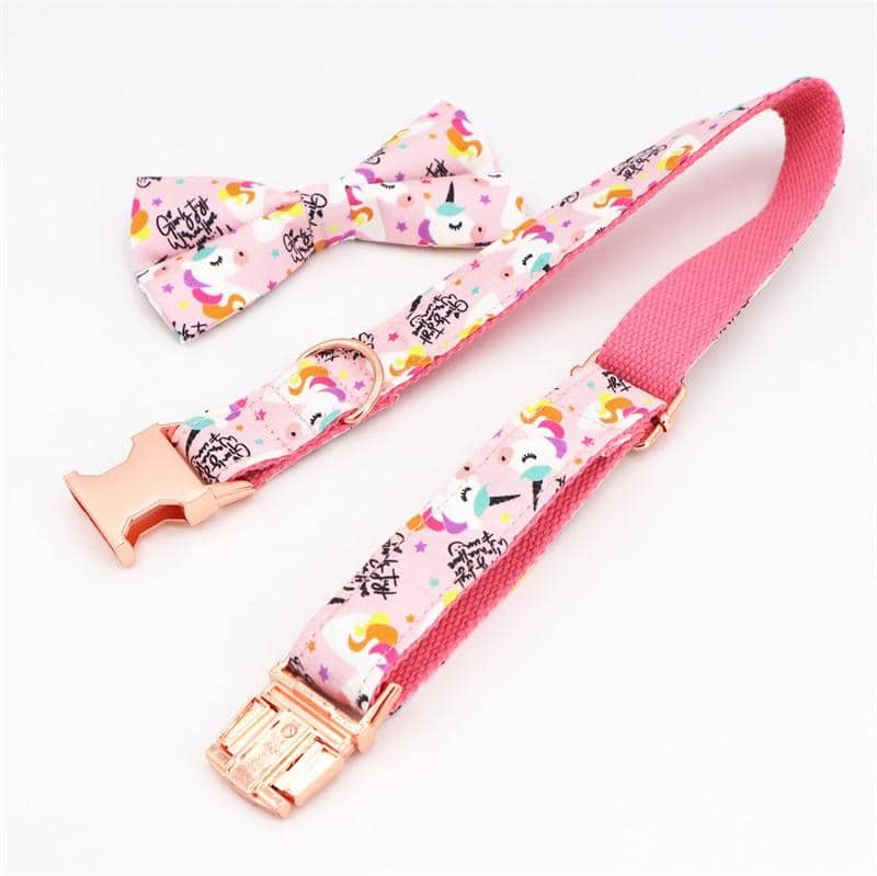 Dog Candy Unicorn Bow-Tie Collar Set | Small to Medium Dog Fashion Clothing | BowWow shop Online