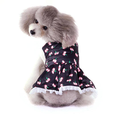 Carnation Winter Dress for dogs, dog clothes, small dog clothes, dogs clothing, dog clothes female, dogs clothes boy, Dogs Clothes For Small To Medium Dog, Elfie, BowWow Shop - Top Dog Clothing Store