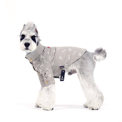 Dog Casual Friday Monkey Print Button Shirt | Small to Medium Dog Fashion Clothing | BowWow shop Online