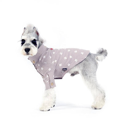 Casual Friday Cat Print Button Shirt for dogs, dog clothes, small dog clothes, dogs clothing, dog clothes female, dogs clothes boy, Dogs Clothes For Small To Medium Dog, Liz's Wonderland, BowWow Shop - Top Dog Clothing Store