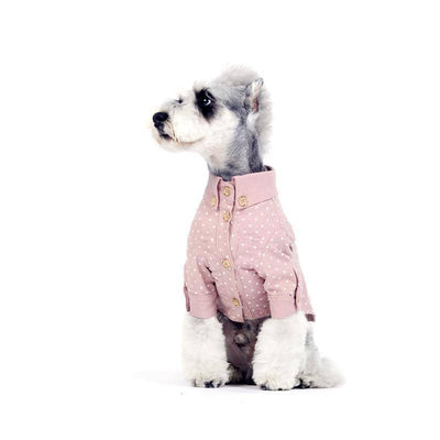 Casual Friday Spot Print Button Shirt for dogs, dog clothes, dogs clothes, dog clothing, small dog clothes, dogs clothing, dog clothes female, dogs clothes boy, Dogs Clothes For Small To Medium Dog, Liz's Wonderland, BowWow Shop - Top Dog Outfits Store