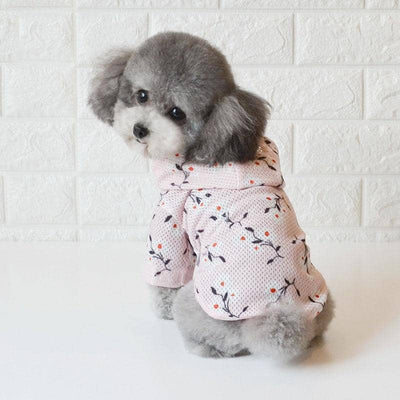 Cherry Blossom Summer Hoodie for dogs, dog clothes, small dog clothes, dogs clothing, dog clothes female, dogs clothes boy, Dogs Clothes For Small To Medium Dog, Best For Pet, BowWow Shop - Top Dog Clothing Store