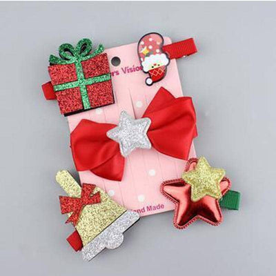 Dog Christmas Hair Clip Pack | Small to Medium Dog Fashion Clothing | BowWow shop Online