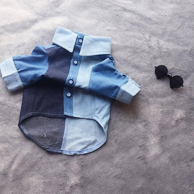 Classic Denim Shirt for dogs, dog clothes, dogs clothes, dog clothing, small dog clothes, dogs clothing, dog clothes female, dogs clothes boy, Dogs Clothes For Small To Medium Dog, PeTalk, BowWow Shop - Top Dog Outfits Store
