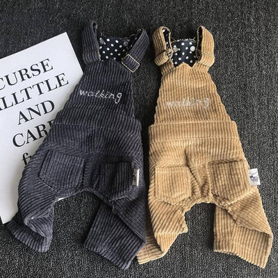 Corduroy Bib & Brace Overalls for dogs, dog clothes, dogs clothes, dog clothing, small dog clothes, dogs clothing, dog clothes female, dogs clothes boy, Dogs Clothes For Small To Medium Dog, Best For Pet, BowWow Shop - Top Dog Outfits Store