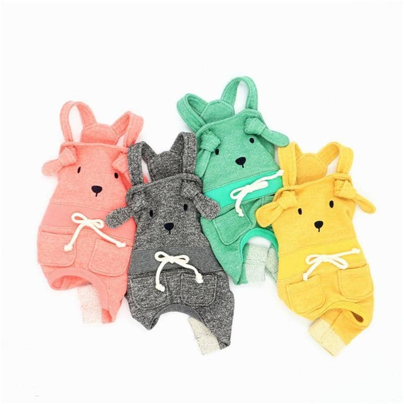 Cotton Rabbit Jumpsuit for dogs, dog clothes, dogs clothes, dog clothing, small dog clothes, dogs clothing, dog clothes female, dogs clothes boy, Dogs Clothes For Small To Medium Dog, Liz's Wonderland, BowWow Shop - Top Dog Outfits Store