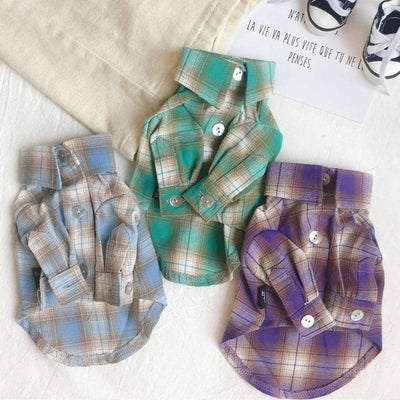 Crayon Plaid Shirt for dogs, dog clothes, dogs clothes, dog clothing, small dog clothes, dogs clothing, dog clothes female, dogs clothes boy, Dogs Clothes For Small To Medium Dog, BigEye, BowWow Shop - Top Dog Outfits Store