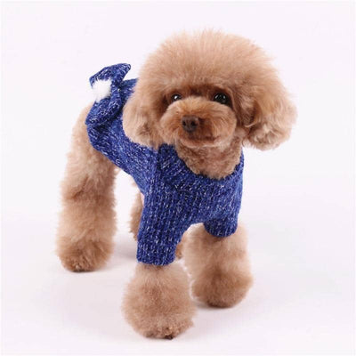 Dog Dark Bow Sweater | Small to Medium Dog Fashion Clothing | BowWow shop Online