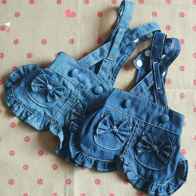 Dog Denim Bow Dress | Small to Medium Dog Fashion Clothing | BowWow shop Online