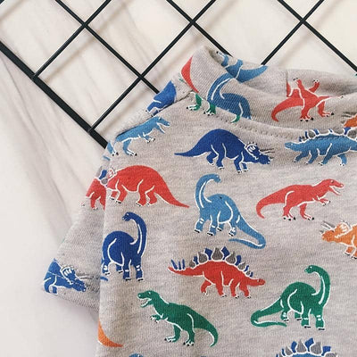 Dinosaur Patterned T-Shirt for dogs, dog clothes, small dog clothes, dogs clothing, dog clothes female, dogs clothes boy, Dogs Clothes For Small To Medium Dog, Miss Doggy, BowWow Shop - Top Dog Clothing Store