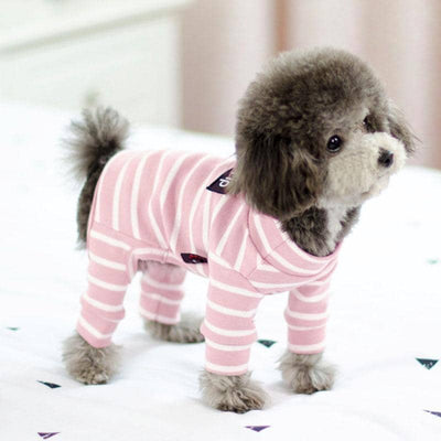 Easy Striped Jumpsuit for dogs, dog clothes, dogs clothes, dog clothing, small dog clothes, dogs clothing, dog clothes female, dogs clothes boy, Dogs Clothes For Small To Medium Dog, Best For Pet, BowWow Shop - Top Dog Outfits Store