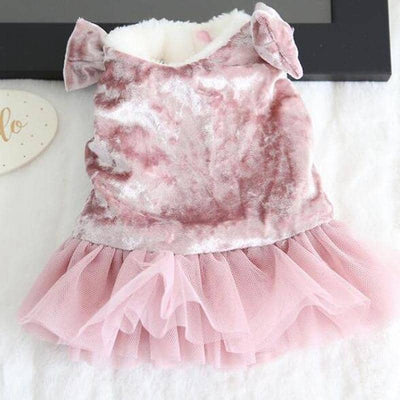 Faux Fur Lined Velvet Tutu for dogs, dog clothes, small dog clothes, dogs clothing, dog clothes female, dogs clothes boy, Dogs Clothes For Small To Medium Dog, Susan's, BowWow Shop - Top Dog Clothing Store