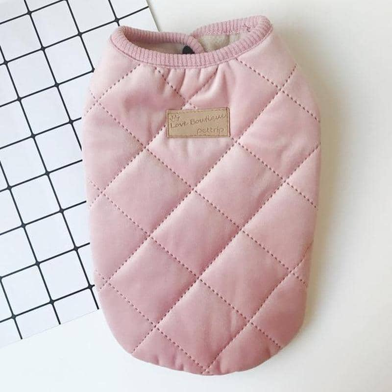 Dog Femme Chic Quilted Vest Jacket | Small to Medium Dog Fashion Clothing | BowWow shop Online
