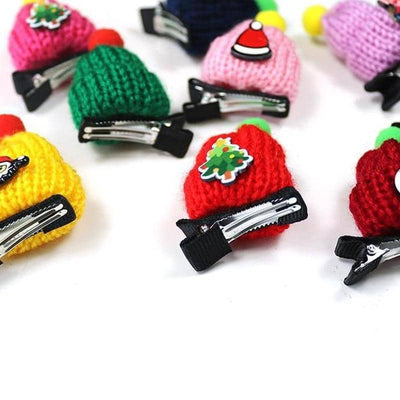 Festive Beanie Hair Clip 10-Pack for dogs, dog clothes, small dog clothes, dogs clothing, dog clothes female, dogs clothes boy, Dogs Clothes For Small To Medium Dog, Xin, BowWow Shop - Top Dog Clothing Store
