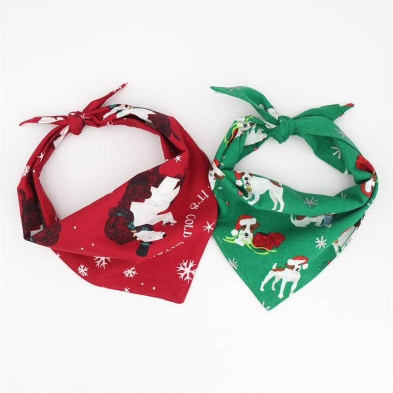 Dog Festive Dog Bandana Set | Small to Medium Dog Fashion Clothing | BowWow shop Online