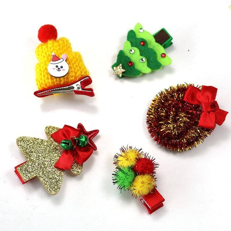 Festive Hair Clip Pack for dogs, dog clothes, small dog clothes, dogs clothing, dog clothes female, dogs clothes boy, Dogs Clothes For Small To Medium Dog, Xin, BowWow Shop - Top Dog Clothing Store