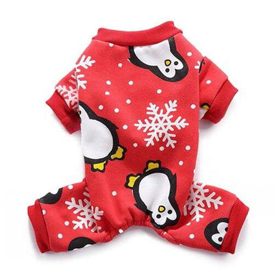 Festive Red Onesie for dogs, dog clothes, dogs clothes, dog clothing, small dog clothes, dogs clothing, dog clothes female, dogs clothes boy, Dogs Clothes For Small To Medium Dog, iLovePet, BowWow Shop - Top Dog Outfits Store