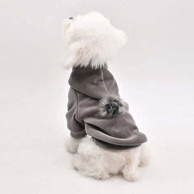 Fleece Pom-Pom Hoodie for dogs, dog clothes, dogs clothes, dog clothing, small dog clothes, dogs clothing, dog clothes female, dogs clothes boy, Dogs Clothes For Small To Medium Dog, PetMundo, BowWow Shop - Top Dog Outfits Store
