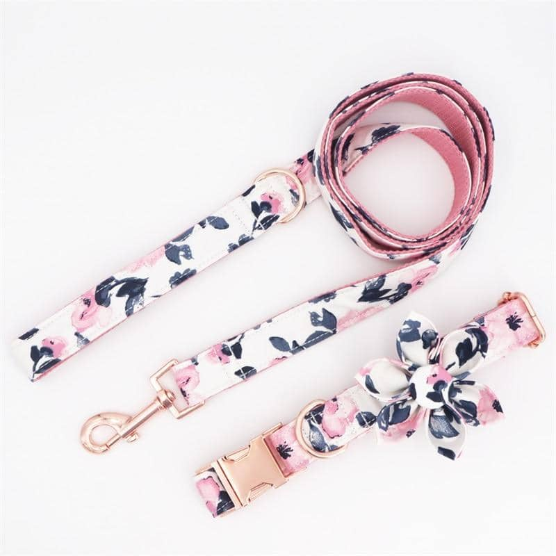 Flower Power Blush Collar Set for dogs, dog clothes, dogs clothes, dog clothing, small dog clothes, dogs clothing, dog clothes female, dogs clothes boy, Dogs Clothes For Small To Medium Dog, Free Sunday, BowWow Shop - Top Dog Outfits Store