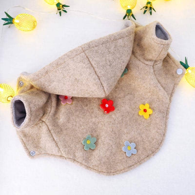 Flower Power Hoodie for dogs, dog clothes, dogs clothes, dog clothing, small dog clothes, dogs clothing, dog clothes female, dogs clothes boy, Dogs Clothes For Small To Medium Dog, PetMundo, BowWow Shop - Top Dog Outfits Store