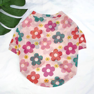 Flower Power T-Shirt for dogs, dog clothes, dogs clothes, dog clothing, small dog clothes, dogs clothing, dog clothes female, dogs clothes boy, Dogs Clothes For Small To Medium Dog, PetMundo, BowWow Shop - Top Dog Outfits Store