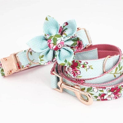 Flower Power Vintage Collar Set for dogs, dog clothes, dogs clothes, dog clothing, small dog clothes, dogs clothing, dog clothes female, dogs clothes boy, Dogs Clothes For Small To Medium Dog, Free Sunday, BowWow Shop - Top Dog Outfits Store