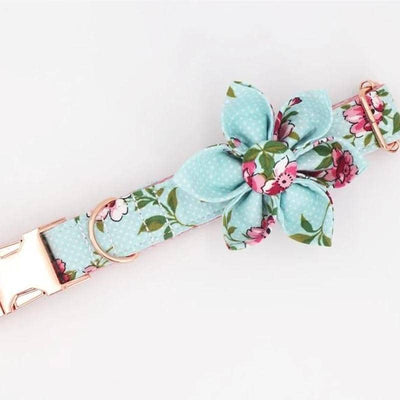 Dog Flower Power Vintage Collar Set | Small to Medium Dog Fashion Clothing | BowWow shop Online