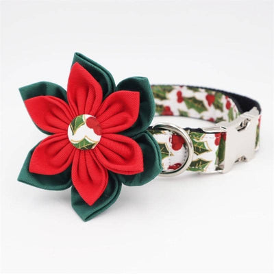 Flower Power Xmas Edition Collar for dogs, dog clothes, small dog clothes, dogs clothing, dog clothes female, dogs clothes boy, Dogs Clothes For Small To Medium Dog, Free Sunday, BowWow Shop - Top Dog Clothing Store