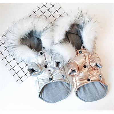 Foil & Fur Jacket for dogs, dog clothes, small dog clothes, dogs clothing, dog clothes female, dogs clothes boy, Dogs Clothes For Small To Medium Dog, KeepBest, BowWow Shop - Top Dog Clothing Store