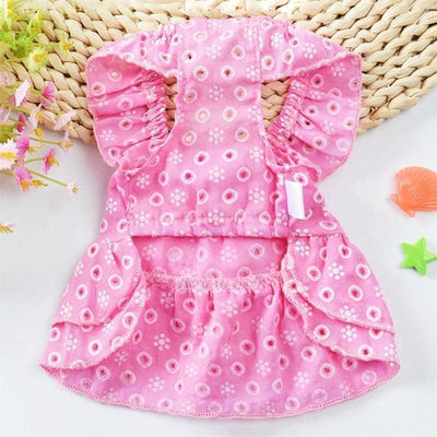 Dog Frilled Summer Shortie Frock | Small to Medium Dog Fashion Clothing | BowWow shop Online