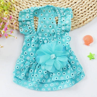 Frilled Summer Shortie Frock for dogs, dog clothes, small dog clothes, dogs clothing, dog clothes female, dogs clothes boy, Dogs Clothes For Small To Medium Dog, Pawstrip, BowWow Shop - Top Dog Clothing Store