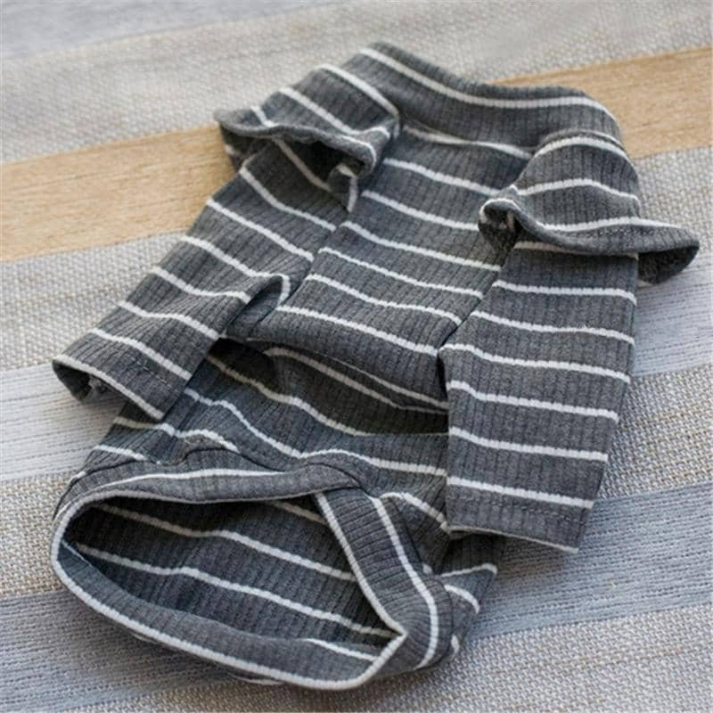 Frilly Shoulder Stripe Turtleneck for dogs, dog clothes, small dog clothes, dogs clothing, dog clothes female, dogs clothes boy, Dogs Clothes For Small To Medium Dog, Liz's Wonderland, BowWow Shop - Top Dog Clothing Store