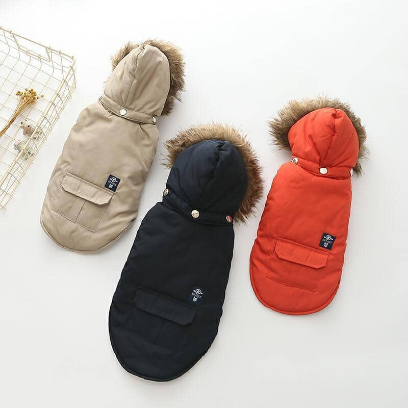 Dog Fur Parka Jacket | Small to Medium Dog Fashion Clothing | BowWow shop Online