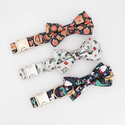 Gingerbread Bow-Tie Collar for dogs, dog clothes, dogs clothes, dog clothing, small dog clothes, dogs clothing, dog clothes female, dogs clothes boy, Dogs Clothes For Small To Medium Dog, Free Sunday, BowWow Shop - Top Dog Outfits Store